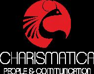 Logo Charismarica rosso bianco